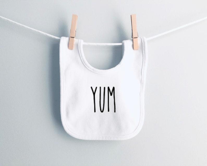 Farmhouse Baby Bibs that say Yum  Hangry Foodie