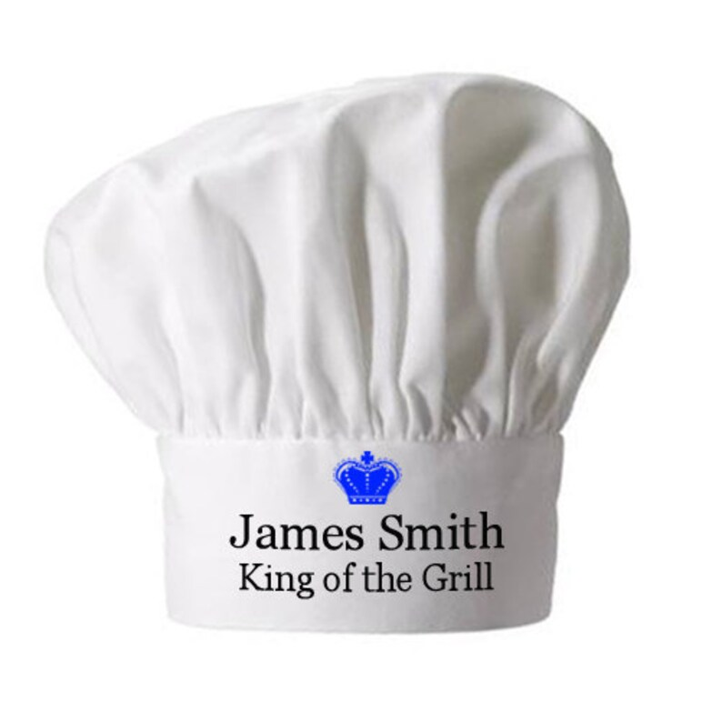 Chef hat King of the Grill Chef Hat Personalized gifts
