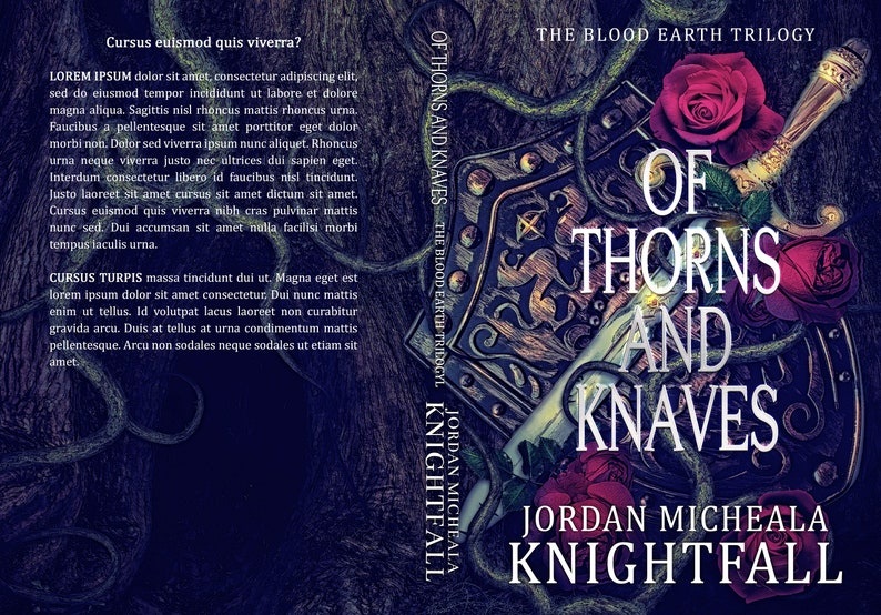 Historical Fantasy Premade Ebook Cover Design with Print Book image 1