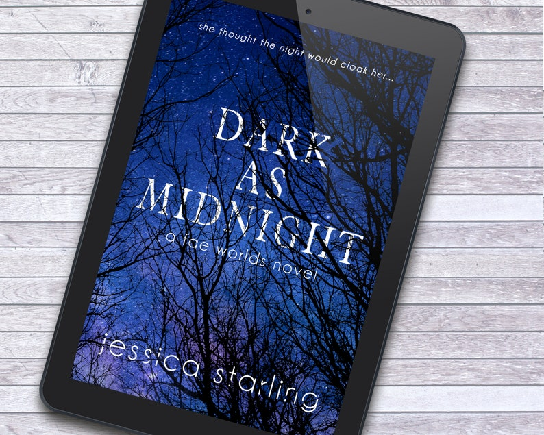 Midnight Forest Trees YA Paranormal Dark Fantasy Ebook Cover image 1