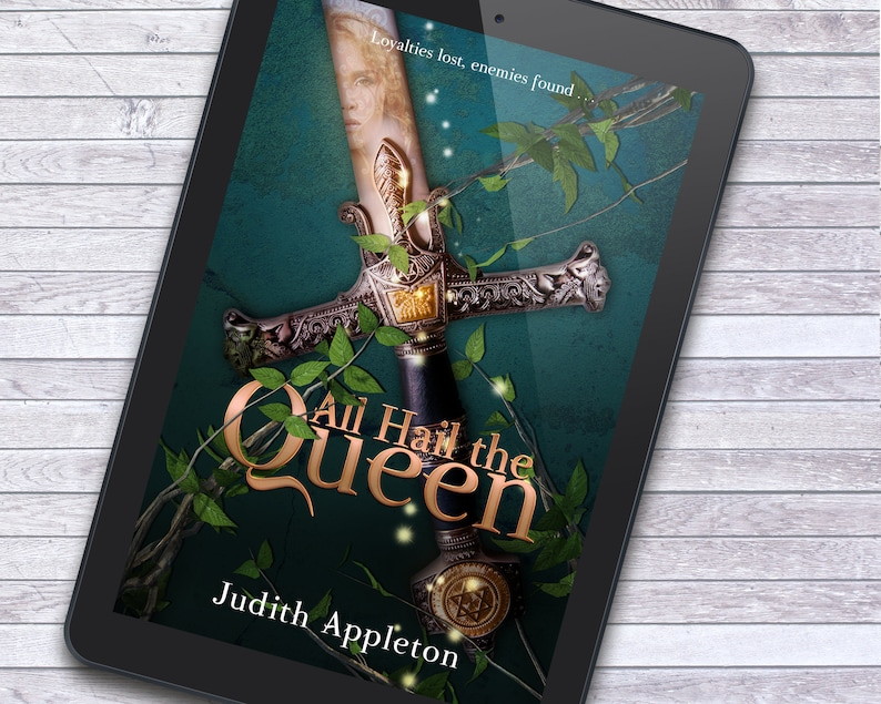 Queen's Sword Epic Kingdom Fantasy Premade Ebook Cover image 1