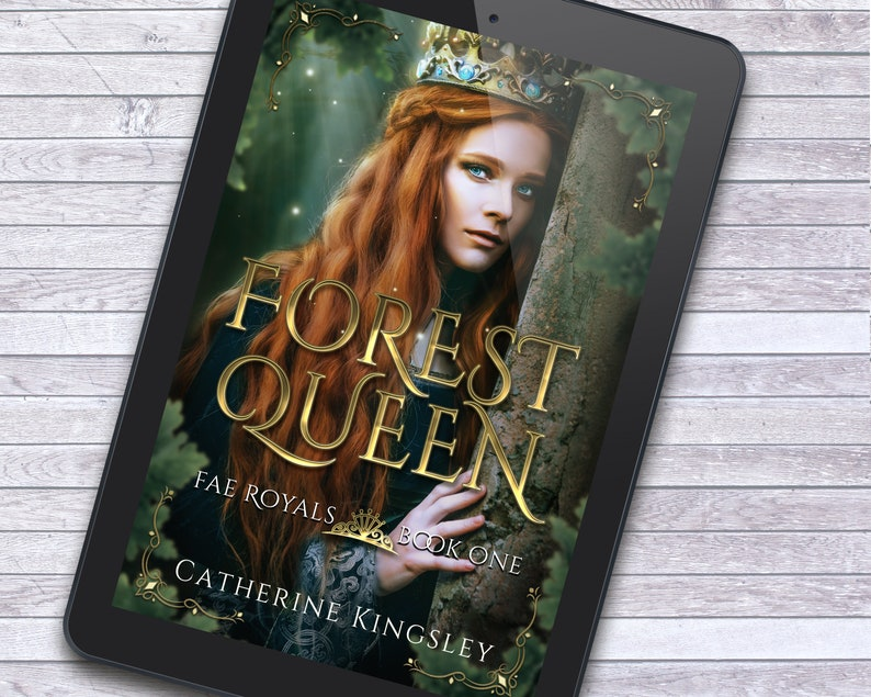 Fairy Queen Forest Fantasy Premade Ebook Cover with Print Book image 1