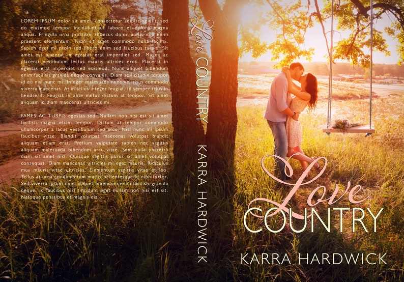 Sweet Country Romance Premade Ebook Cover Art with Print Book image 1