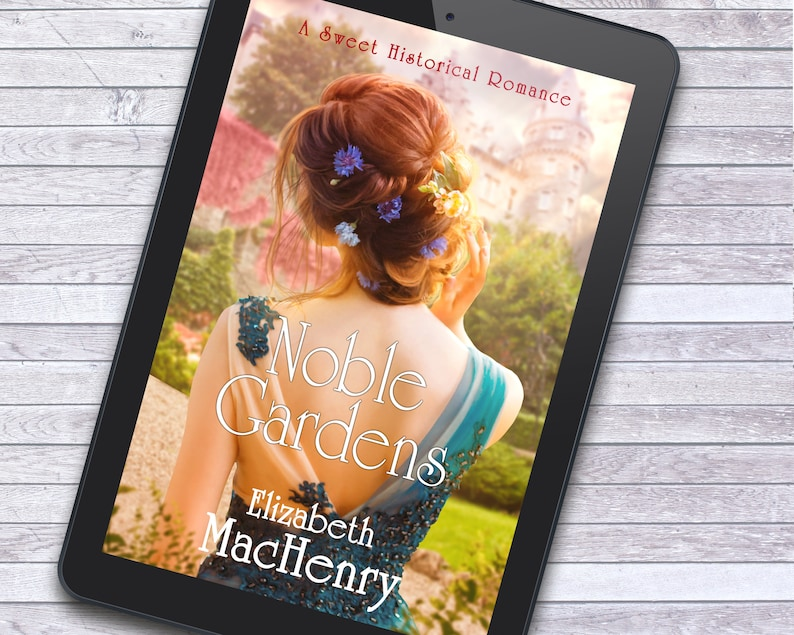 Noble Gardens Sweet Historical Romance Premade Ebook Cover image 1