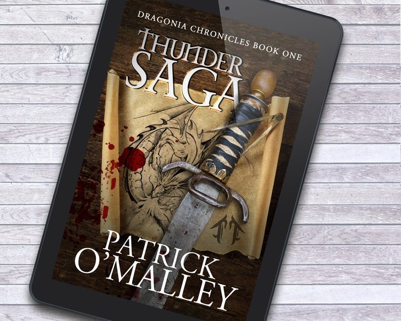 Epic Quest Map and Dagger Premade Ebook Cover with Print Book image 1