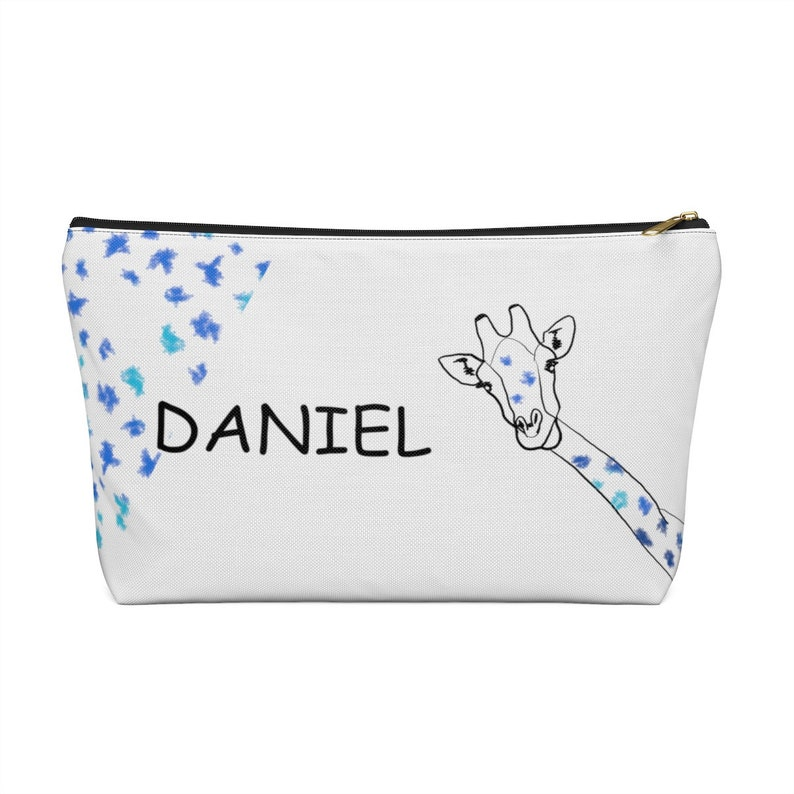 gift for a baby shower Diaper clutch Can be personalized with the name of the baby Newborn gift! with giraffes designed