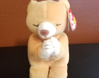 51c4519fdcb RARE Beanie Baby! HOPE (The praying bear) With ALL tag errors!