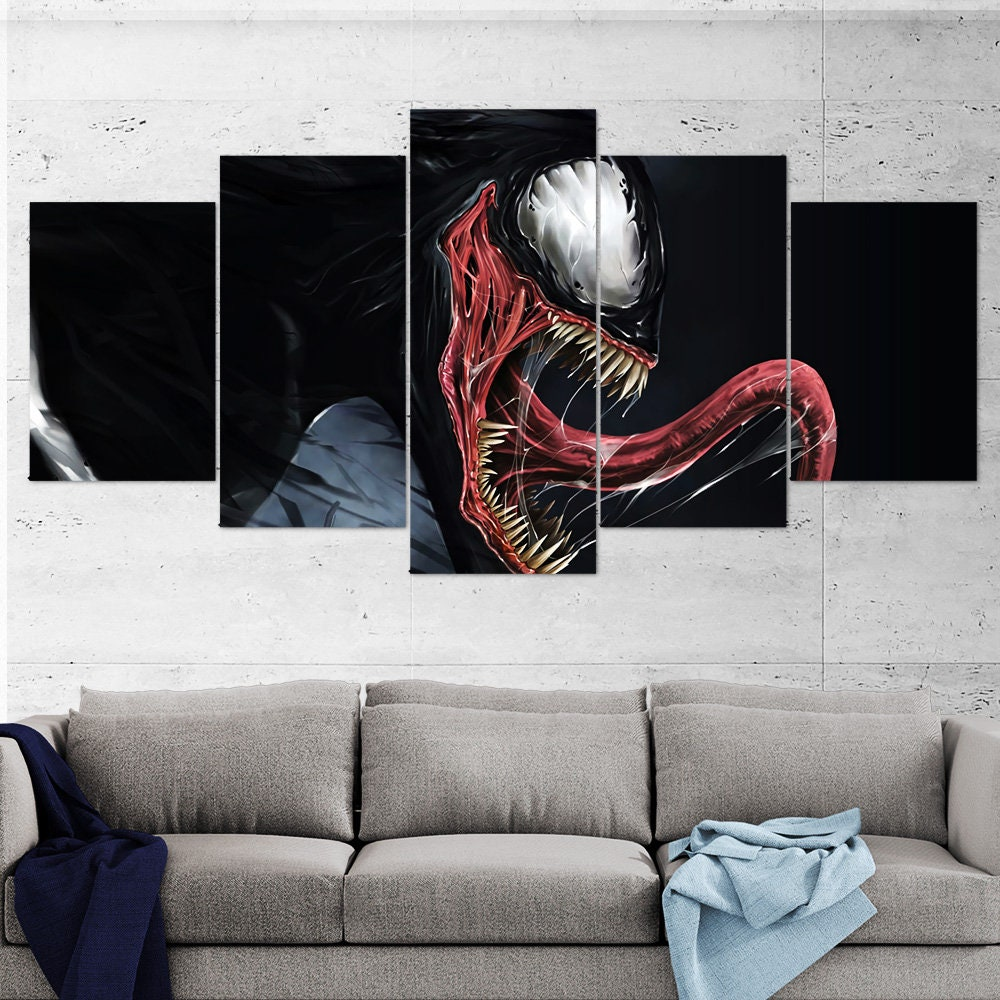 Venom canvas wall art venom multi panel venom 5 piece venom wall art venom canvas venom poster gift large wall art
