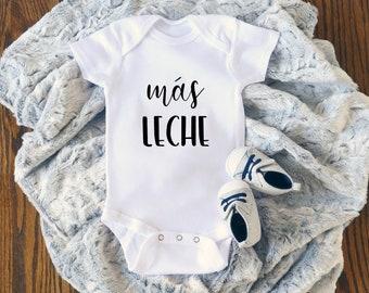 d727ae446 Más Leche Onesie, Spanish Baby Clothes, Spanish Baby Onesie