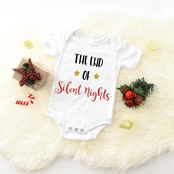 Pregnancy Announcement Baby Announcement Onesi Christmas Baby Announcement Onsie Bodysuit Christmas Pregnancy Reveal to Grandma