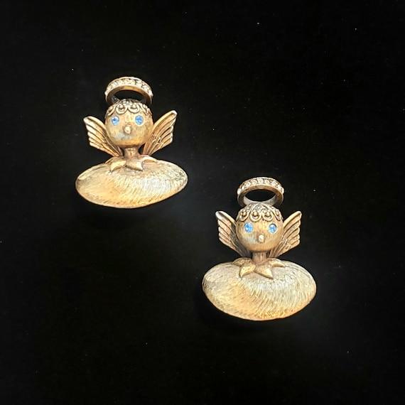 TORTOLANI ANGEL PINS - Mid-Century Angel Brooch -