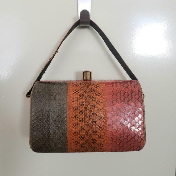1940's Snake Skin Handbag