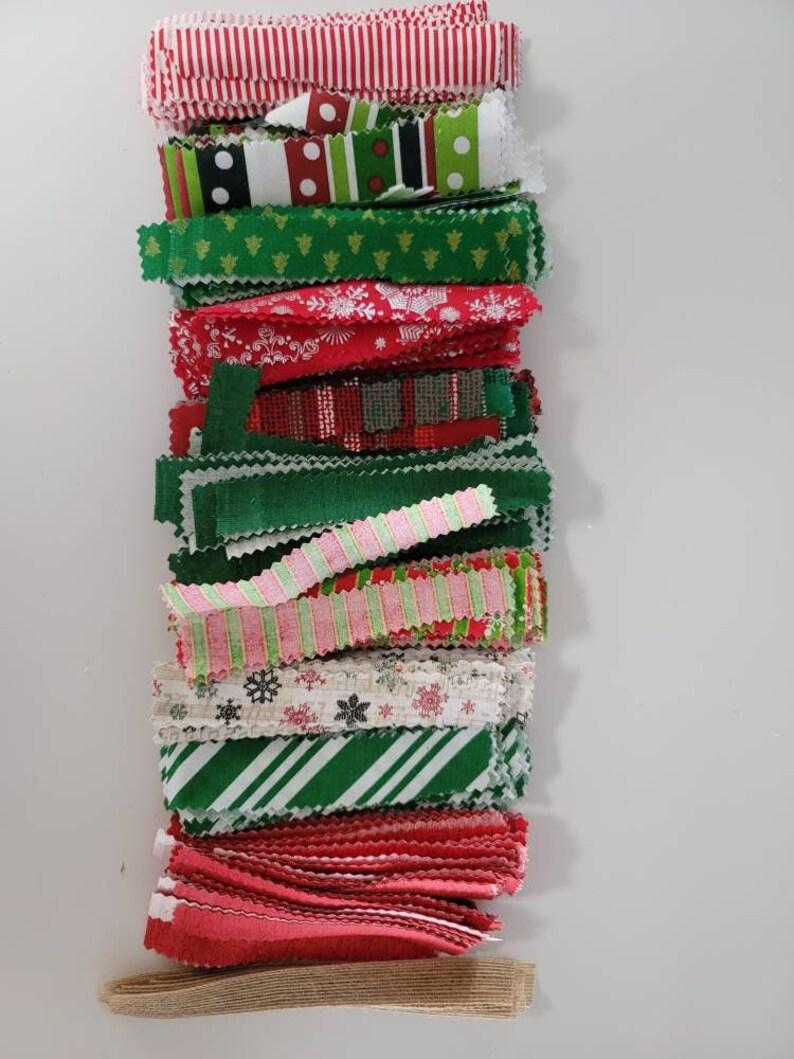 Christmas Lighted Rag Garland 12ft