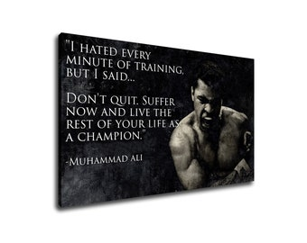 4ad67b97135e Muhammad Ali Poster Boxing Motivational Quote Sport Motivation Print Canvas  Room Home Decor inspirational print canvas poster gym workout