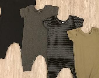 Harem Romper/ Romper/ Playsuit/ Jumpsuit/ Harems/ Short Sleeve Romper