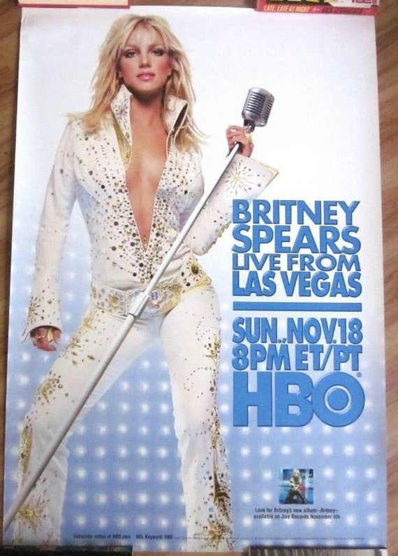 Britney Spears Rare Live From Las Vegas Hbo Promo Etsy