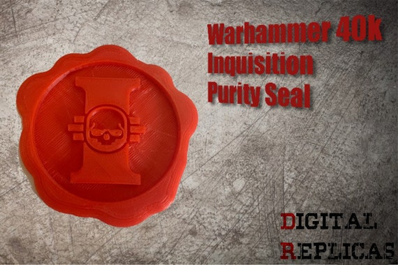 3 Sizes Available Warhammer 40k Inquisition Purity Seal