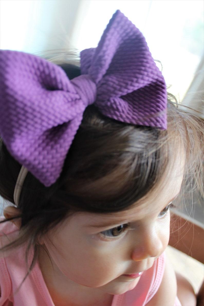 messy bow Baby Mini messy bow ALL colors,messy headband,messy nylon bow hair bows nylon headbands baby bow