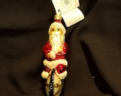 1996 Christopher Radko quot Cycle Santa quot Ornament
