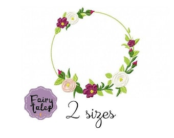 Cute Frame flower embroidery design floral embroidery design machine embroidery pattern file instant download flowers embroidery baby design