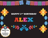 COCO Inspired Personalized Party Backdrop - Coco Inspired Party Background - Personalized Dia de los Muertos Party Banner Decoration