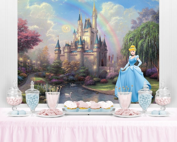 Belle Cinderella Snow White Party PRINCESS CASTLE Birthday Backdrop Disney Princess Inspired Princess Castle Party Backdrop