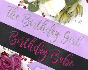 Birthday girl sash | Etsy