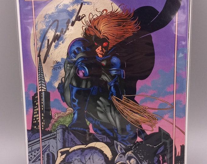 Featured listing image: Night Man #1 Vol. 1 With Autograph by Darick Robertson COA  (1993-1995) Malibu Comics | Comic Books