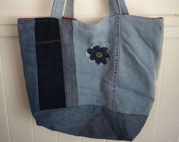 MIA denim reusable bag