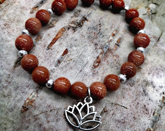Brilliant semi-precious stone bracelet