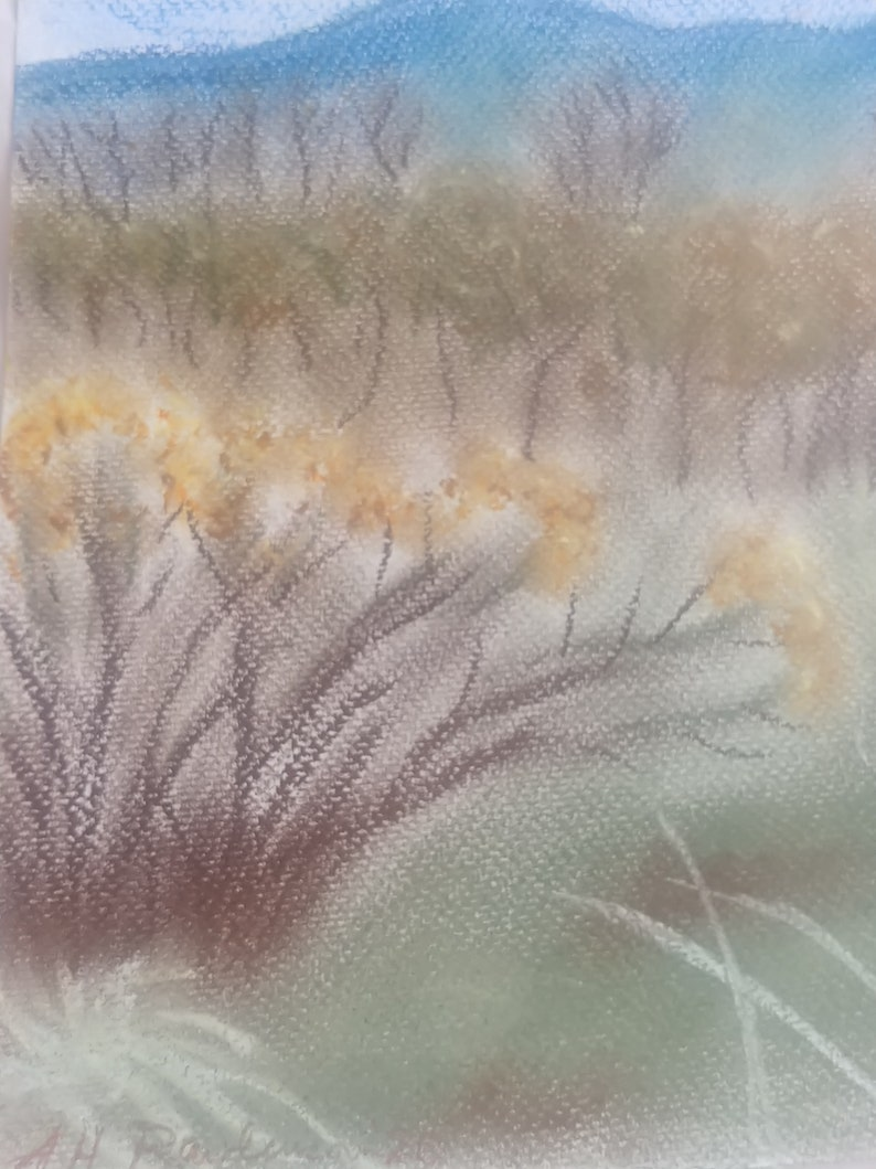 Rawlinson an ORIGINAL Pastel by A.H Colorado Foothills in Autumn
