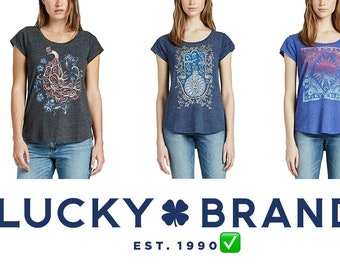 3ecaf3a1b03 Lucky Brand Women Graphic Tee