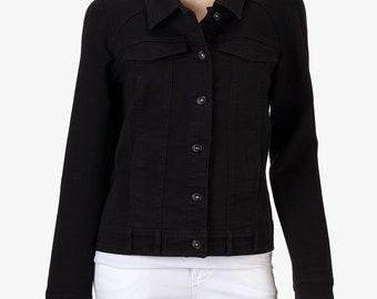 d44ed00fa Gloria Vanderbilt Melanie Denim Jacket Stretch Black