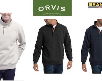 24570d8b ORVIS Men 1/4 Zip Signature Fleece Pullover