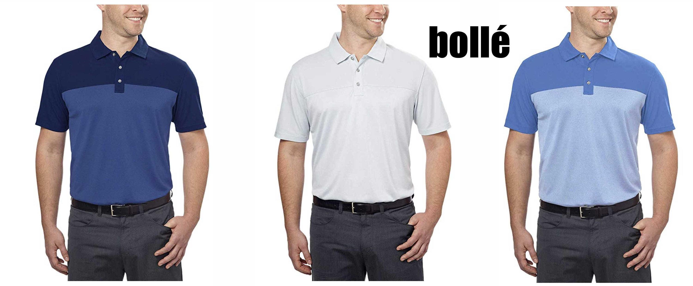 NWT Size XXL Light Grey Bollé Men's Colorblock Performance Polo