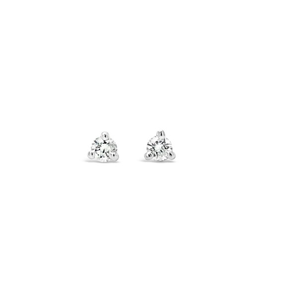 0.20TCW Round Solitaire Cut Diamond Stud Earrings 100/% Natural 14K White Gold