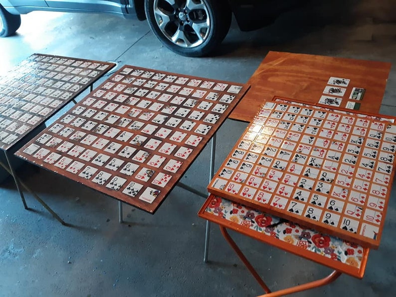 24x24x3/8 Handmade Wood Stained Sequence Game Boards with image 0