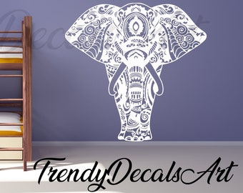 Elephant Wall Decals Etsy