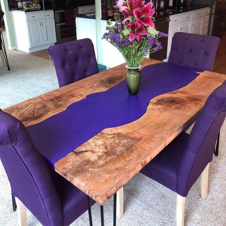 Custom Epoxy River Table
