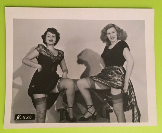 Vintage 1940 50 S Mature Photograph Of A Two Upskirt Etsy