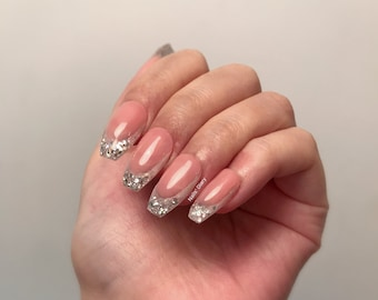 French Style Nails Etsy