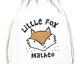 Children/'S Backpack Indian Fox Heart Red Pink Nursery Backpack Bag Wish Name kgn060