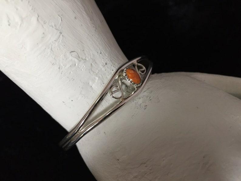 Navajo Sterling Silver /& Spiny Oyster BraceletCuff #935 SIGNED