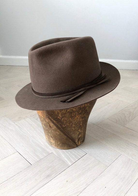 Vintage fedora, Beaver hat, Vintage Traveller, Bro
