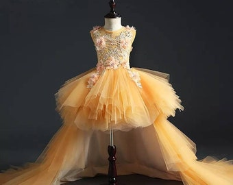 1f2fefad1d3ad fleur fille robe-pageant petite robe robe de mariée robe - robe de  princesse - première communion