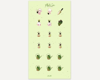 Plant Care planner stickers
