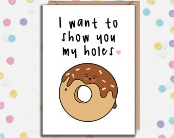 Donut pun card   Etsy