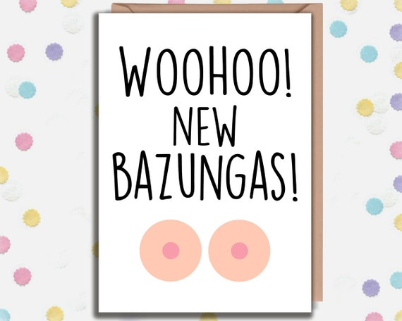 Surgery Card New Boobs WooHoo New Boobies Breast Reduction Breast Enlargement Funny Boob Job Card Breast Implants Get Well Soon  A6