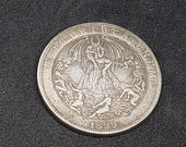 1899 Morgan Dollar Hobo Nickel Coin Lucifer Angle of Death Morningstar