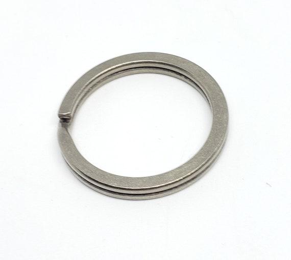 Stone Wash /& Anodized Titanium 32mm Ultra Light Key Split Rings